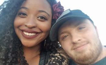 Garrett Foster and his fiance Mitchelle