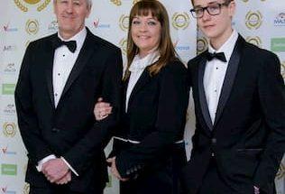 Archie Bijörn Lyndhurst and his parents