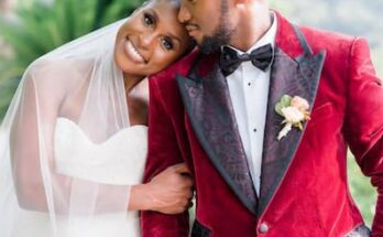 Louis Diame and his wife Issa Rae